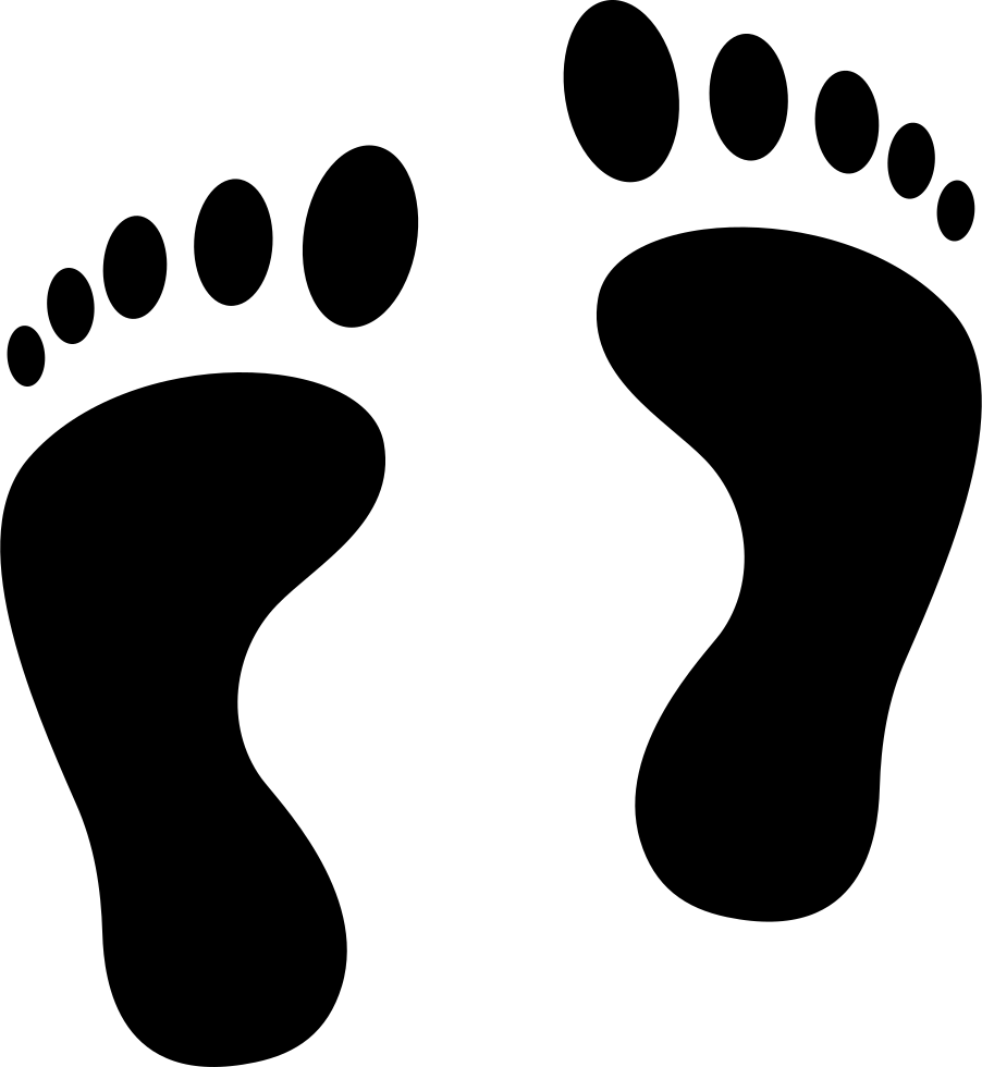 Footprints drawing file. Svg png icon free