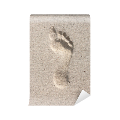 Footprints in the sand png. Footprint on wall mural