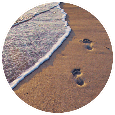 Footprints in the sand png. Blessed hope chapel welcome