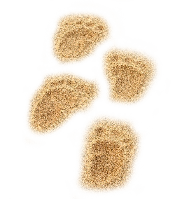 Footprints in the sand png. Beach nice transprent free