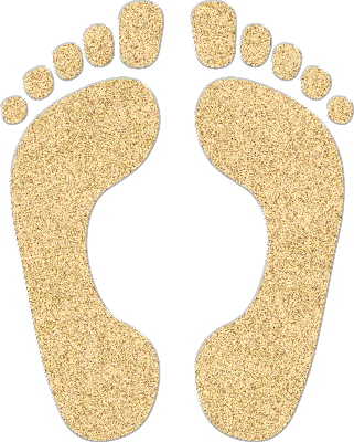 Footprints in the sand png. Scrapstreet wednesday inspiration your