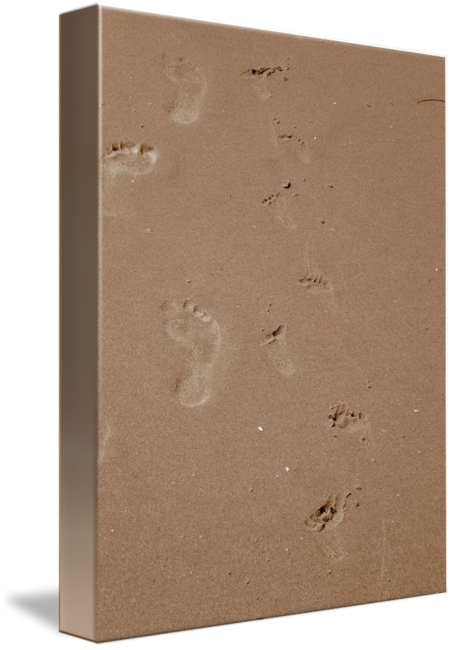 Footprints in the sand png. By catherinehatton