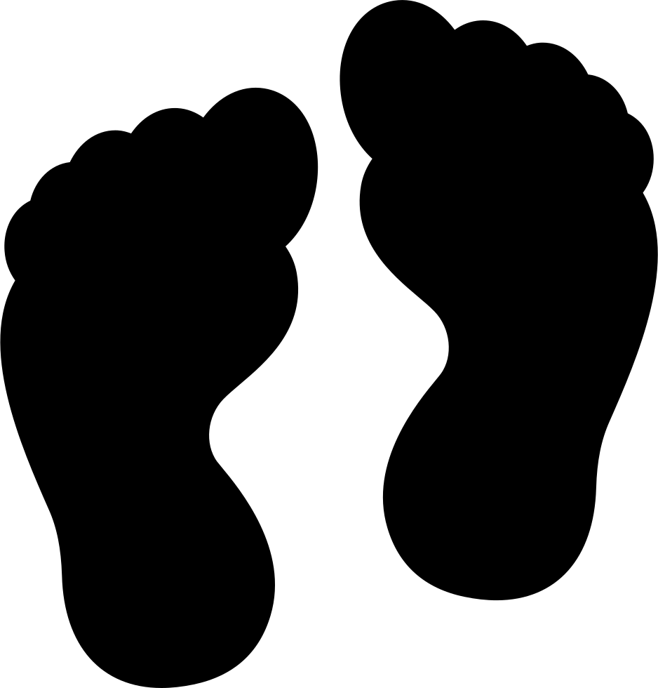 Footprints svg. Two human png icon