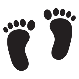 Right foot silhouette png. Footprint transparent vector library library