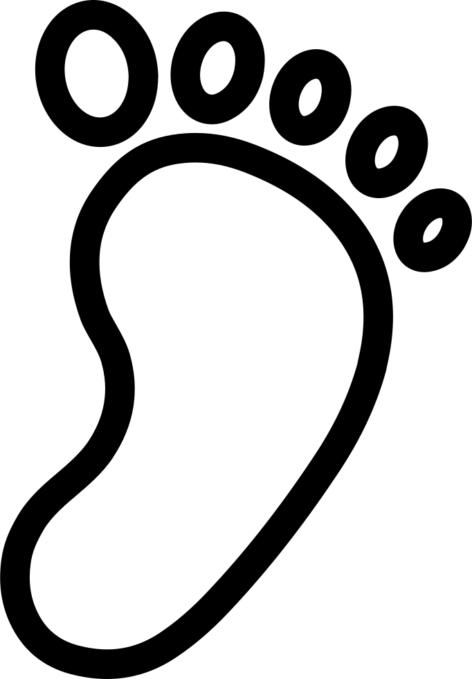 Footprints svg line. My footprint png icon