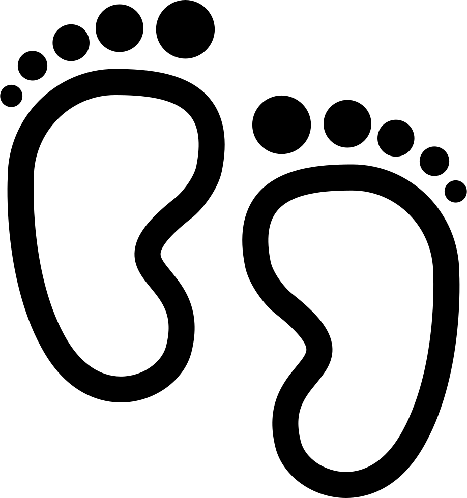 Footprints svg line. Baby png icon free