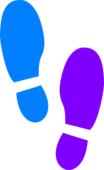 Footprints svg walking shoe. Sneakers clipart library