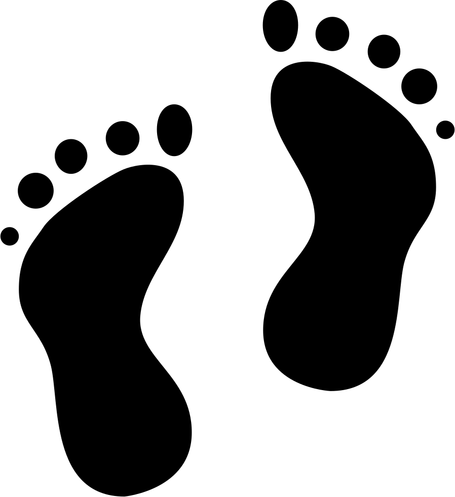 Footprint transparent svg. Footprints png icon free