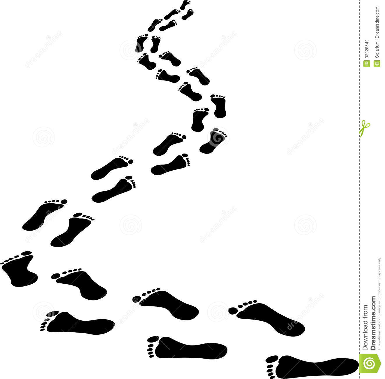 Footsteps clipart.