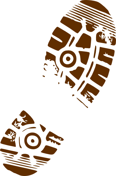 Muddy footprint png. Clip art at clker