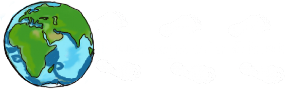 Footsteps drawing animated. Of a giant eat