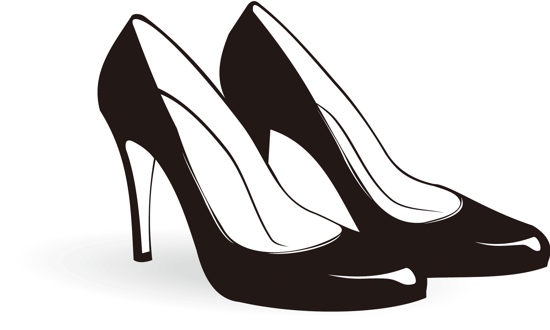 Heel clip transparent. Sneakers clipart library