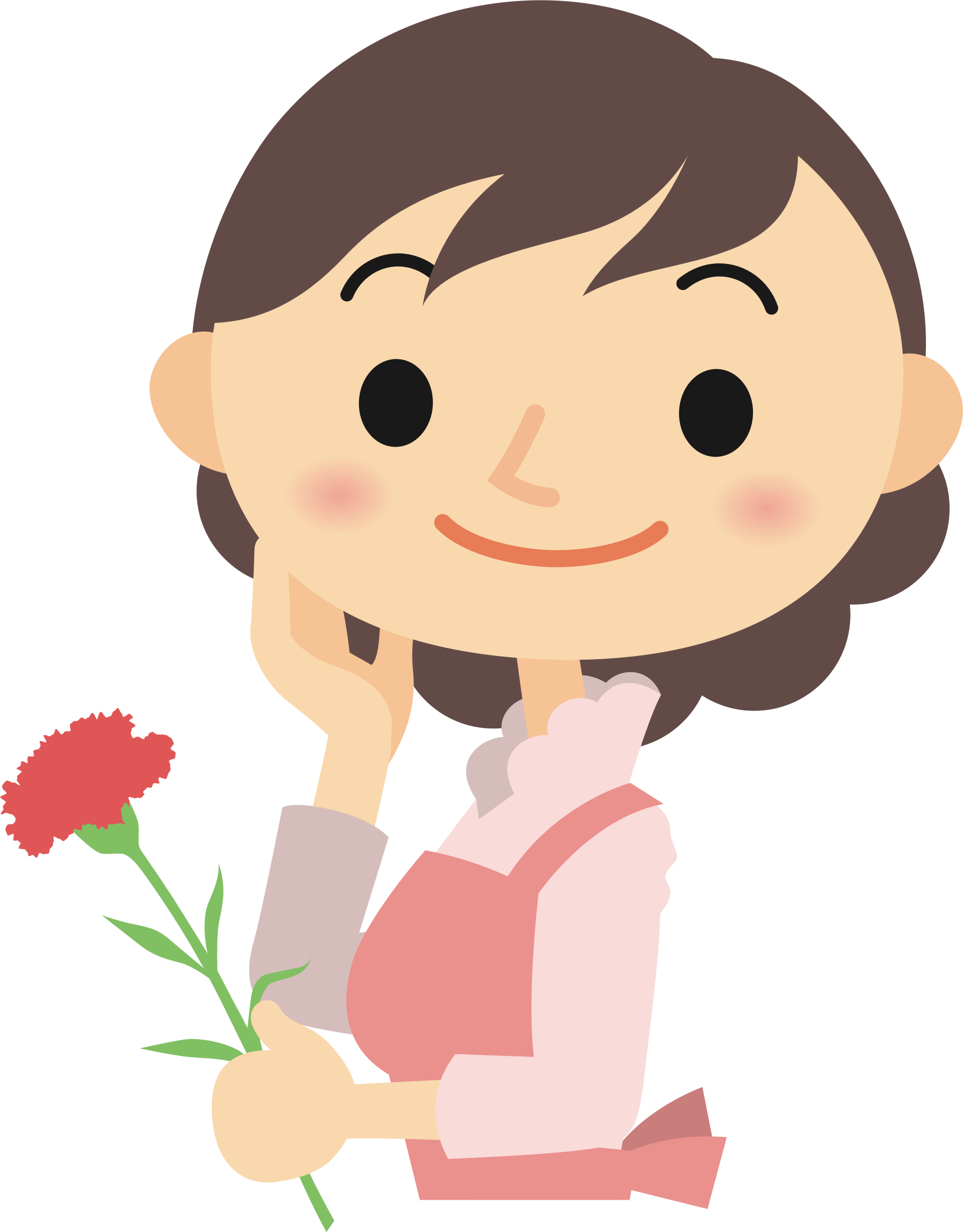 For her clipart cartoon clipart. Flower big image png