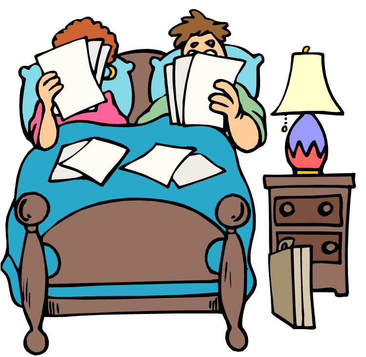 Together in bed . Sleep clipart action word image
