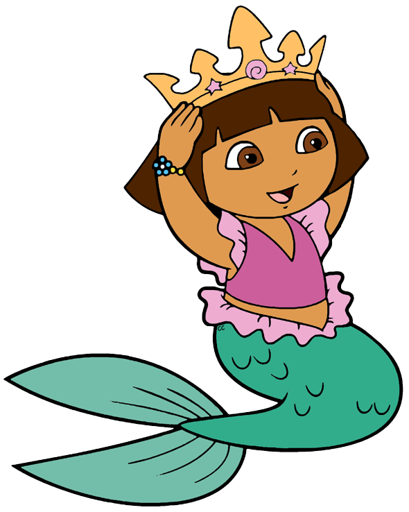 mermaid clipart brown hair