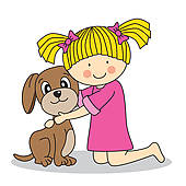 For her clipart pet. Girl with