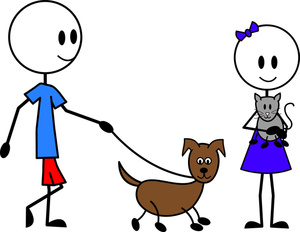For her clipart pet. Dog and cat clip