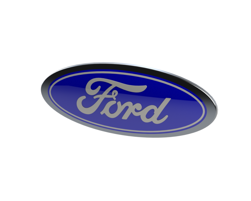 Ford emblem png. Logo d cad model