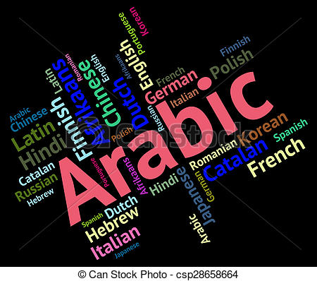 Foreign Arabic. Language means translate lingo