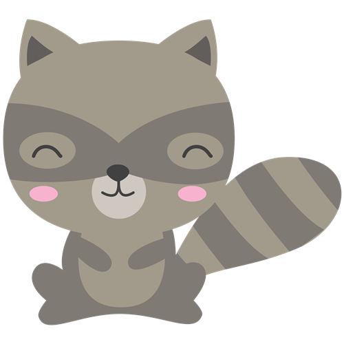 Forest animals png. Cat woodland and raccoon