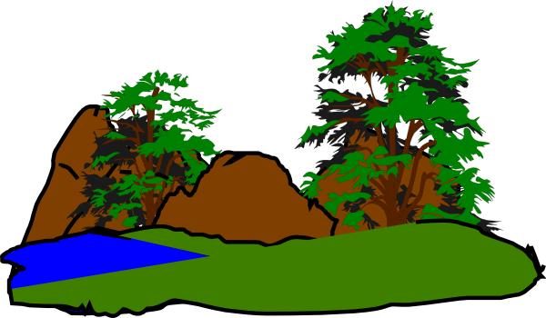 forest clipart forest scene