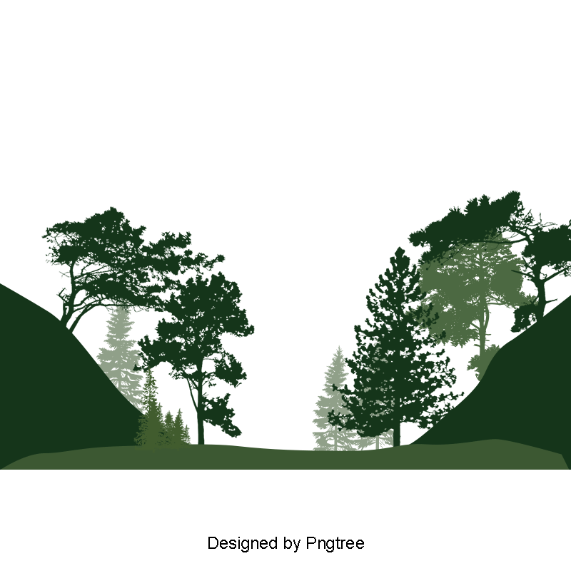 Forest trees png. Landscape green and psd
