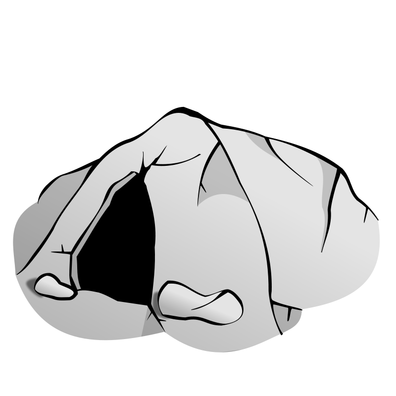 Kd drawing black and white. Cave clip art free