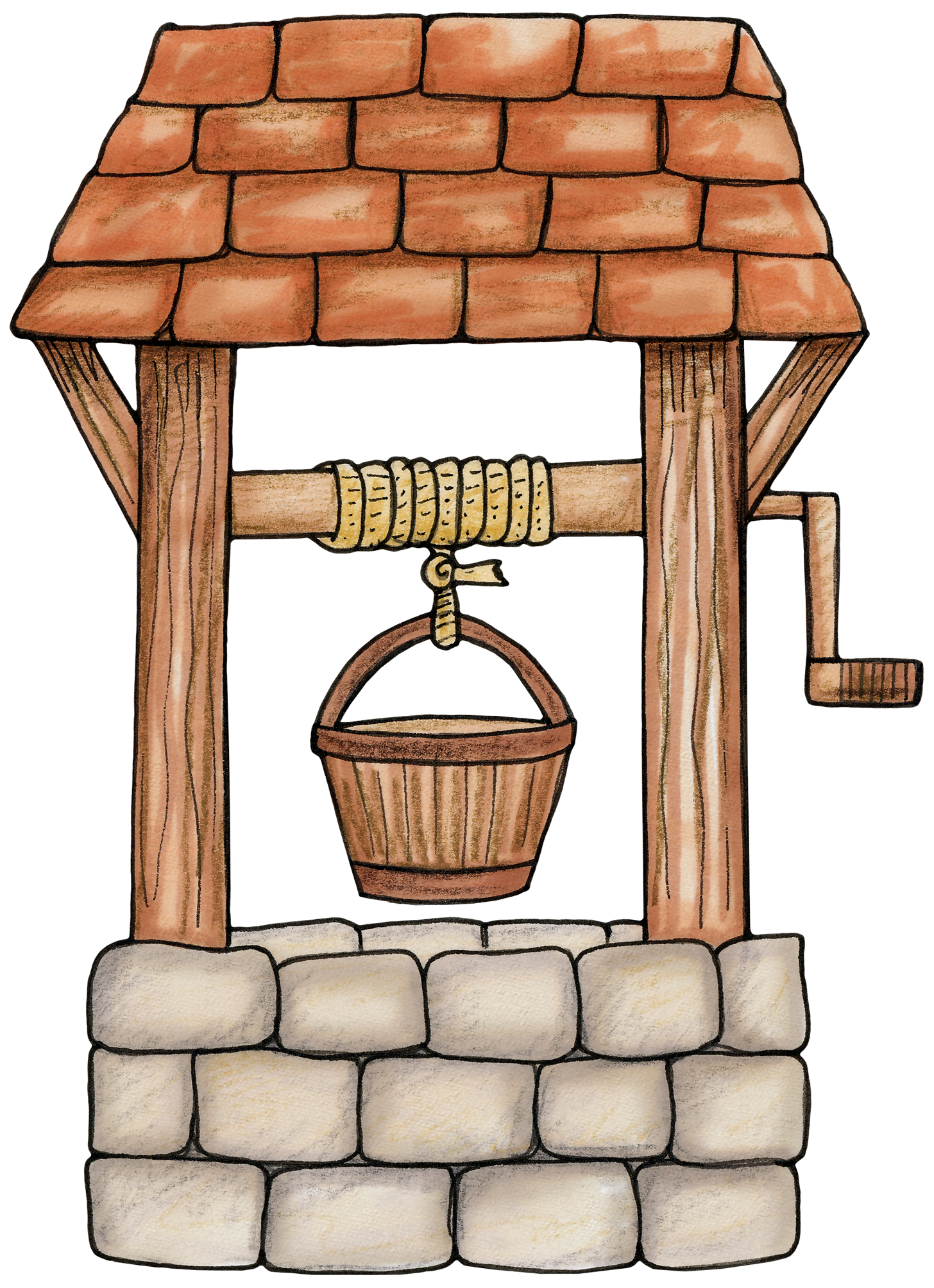 Wishing well for a. Forest clipart enchanted forest svg stock