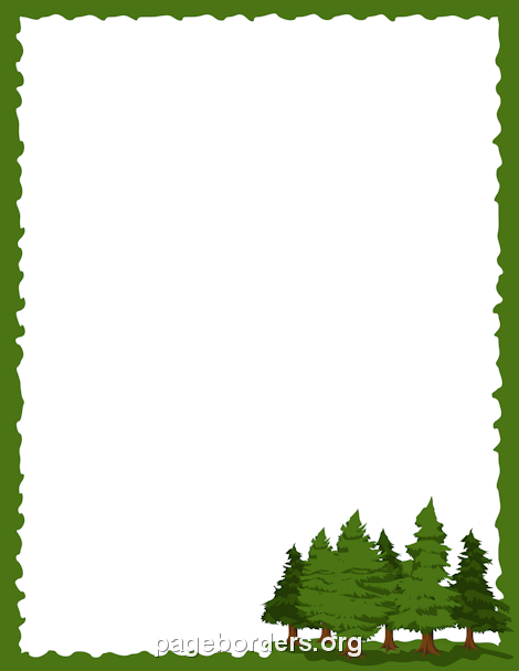 Forest clipart forest border. Clip art printable pine