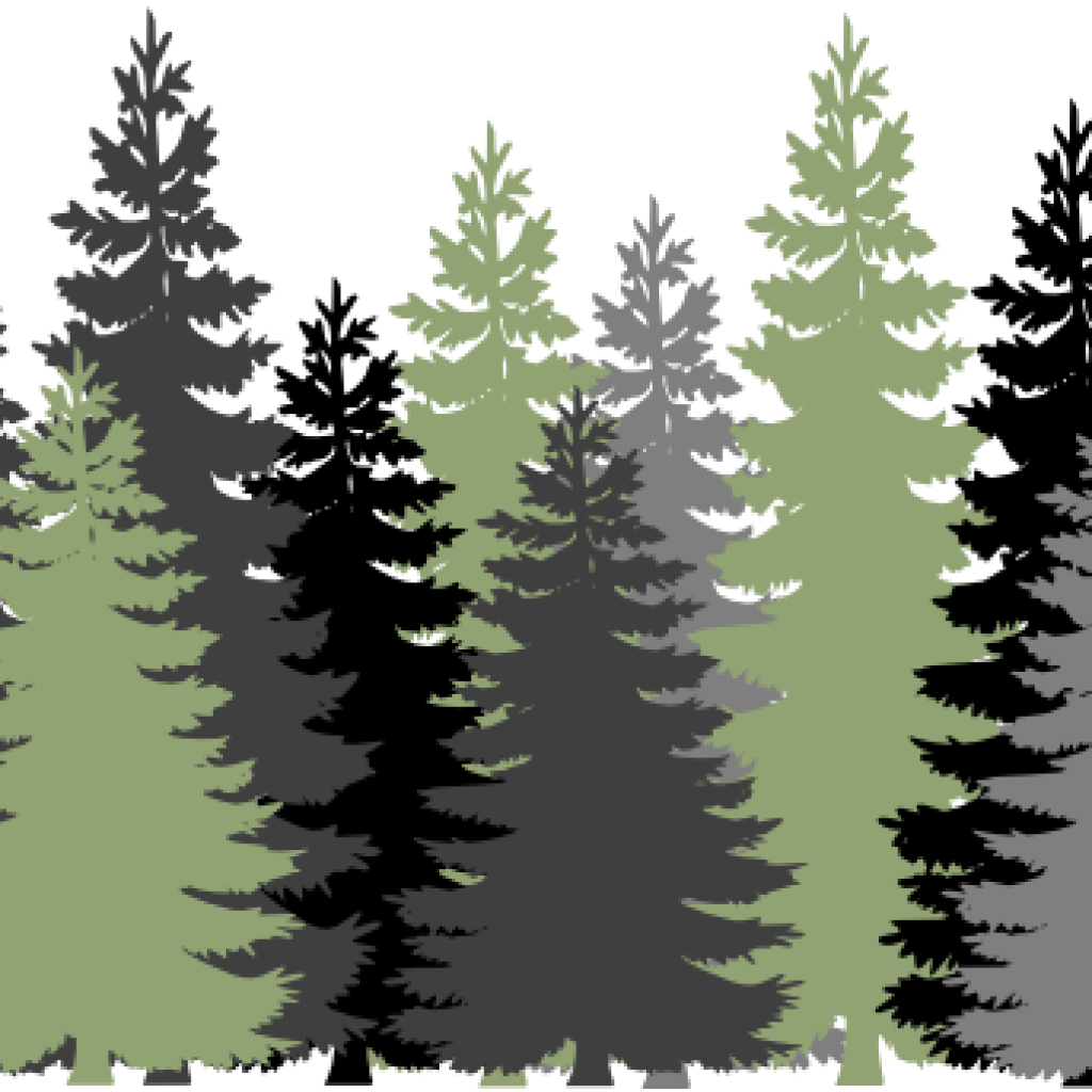 Clip art free download. Forest clipart forest border vector black and white stock