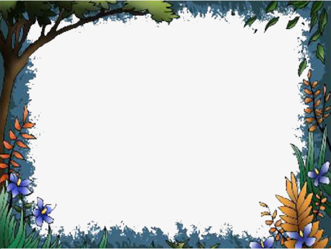 Borders trees rectangle png. Forest clipart forest border banner freeuse library