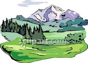 Mountain . Forest clipart forest scene picture freeuse stock