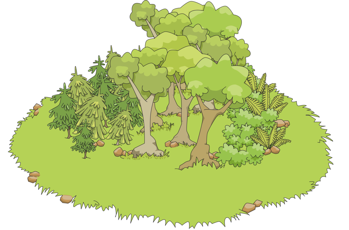 Cloud computer icons tree. Forest clipart forest scene picture library