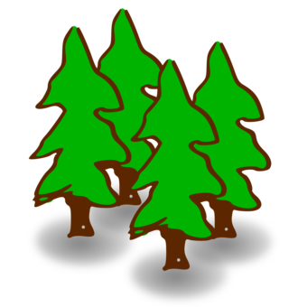 Cover forestry woodland tree. Forest clipart cave in jpg freeuse download