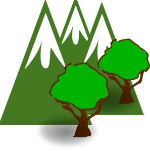 Mountain clip art at. Forest clipart mountains svg transparent download