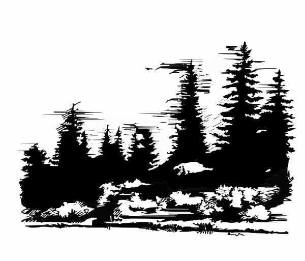 Mountain range clip art. Forest clipart mountains clip black and white download