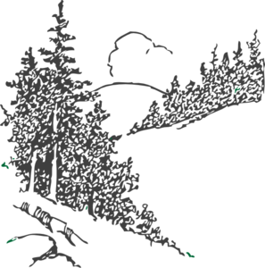 Forest clipart mountains. Free mountain tree cliparts