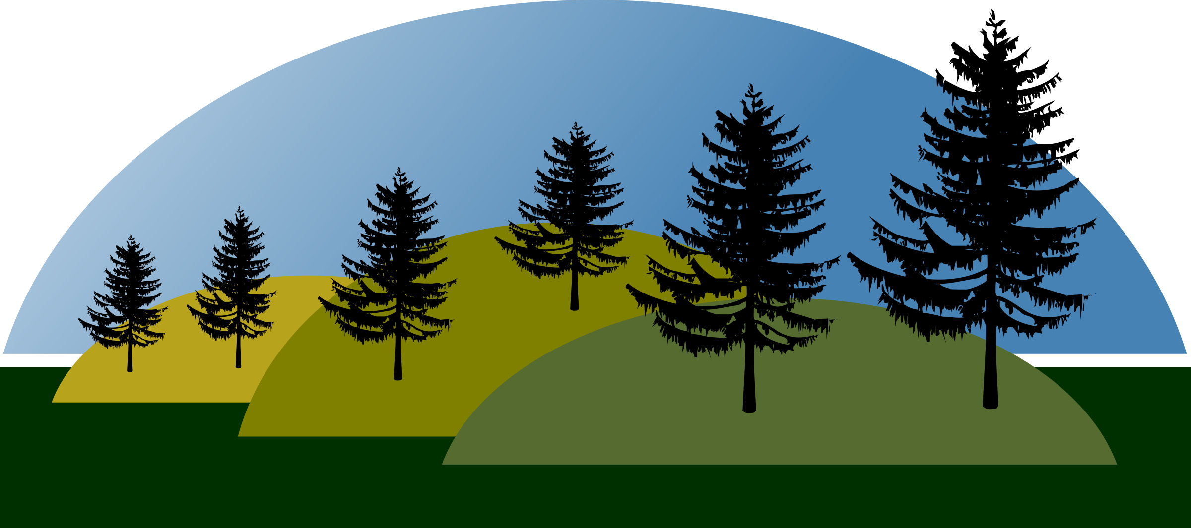 Montanhas big image png. Forest clipart mountains vector black and white library
