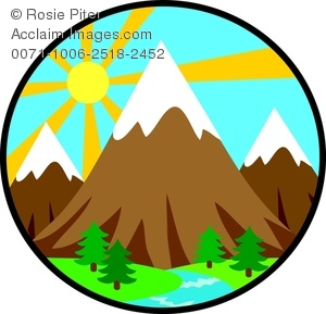Clip art image of. Mountains clipart svg library