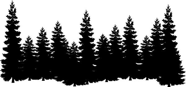 Shilouettes clip art vector. Forest svg pine jpg library stock