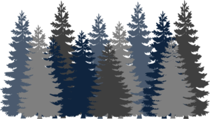 Forest pine trees png. Navy blue tree clip