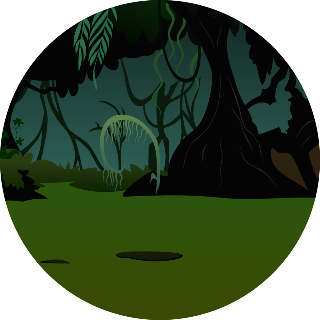 Environment vector forest. Absurd res artist
