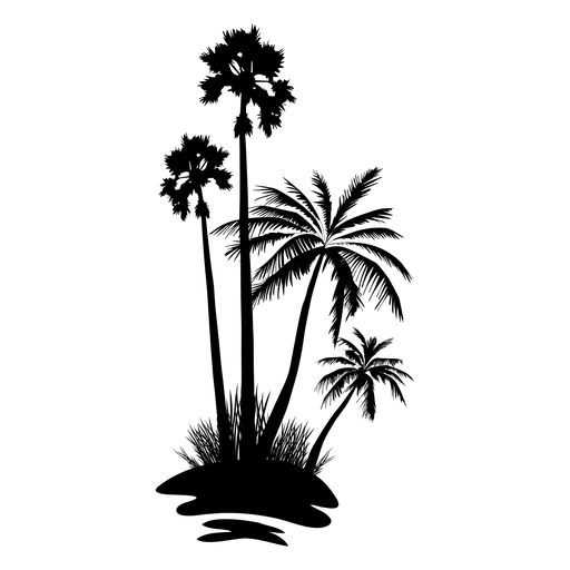 Forest svg tree. Palm silhouette transparent png