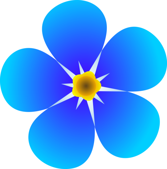Forget me not flower png. Single free clip art