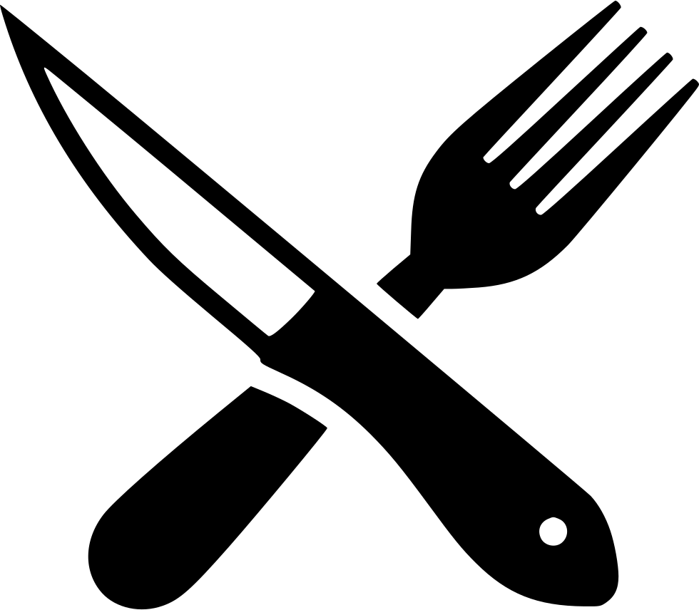 Fork and knife clipart png. Steak svg icon free