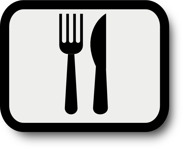 Clip art at clker. Catering clipart knife fork banner stock