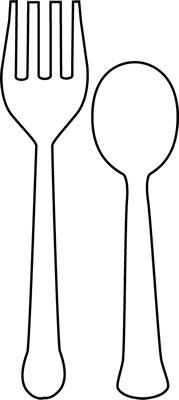 Fork clipart clip art. Utensils vector black and white jpg freeuse library