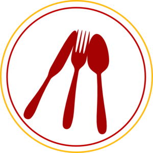 cutlery vector red