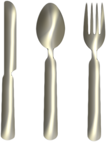 Fork clipart png. Knife spoon silver by