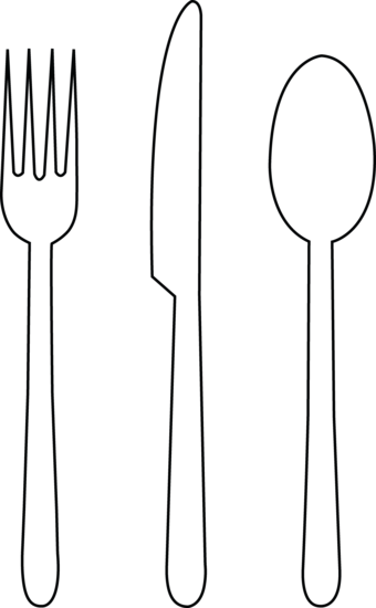 Tableware line art transitional. Catering clipart knife fork graphic royalty free